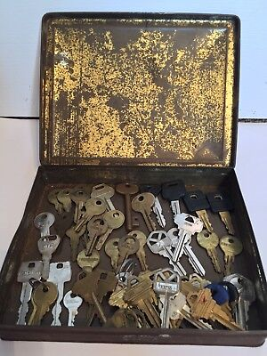 Lot of 60 Mixed Vintage Antique Car Corbin Russwin Skeleton Fuel Ornate Keys