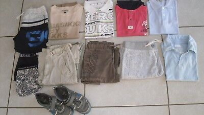 lot garçon 8 ans Ikks Burberry Quicksilver Napapijri, Boss