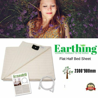 2018 Earthing Half Sheet with Grounding Connection Cord - Mat for Better SleepTD