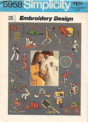 1970's VTG Simplicity Embroidery Design Transfers Pattern 6958