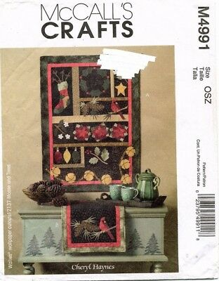 McCall's Christmas Quilt/Wall Hanging, Table Runner Pattern M4991 UNCUT