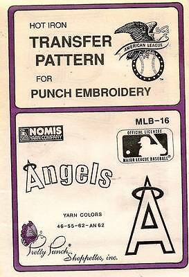 1980's VTG Punch Embroidery Angels Transfer Pattern MLB-16