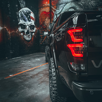 SMOKED XO LED Rear Tail Lights for Ford Ranger T6 Raptor 2016-2018