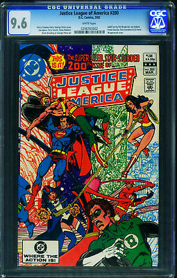 Justice League Of America #200-Cgc 9.6 Wp-Nm-Wraparound Cover 0206763002