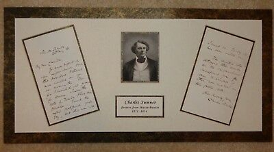 Charles Sumner - Senator who was attacked on the Senate floor in 1856