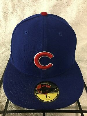 5a010119aea Official 2016 MLB World Series Chicago Cubs New Era 59FIFTY Fitted Hat 7 1 8