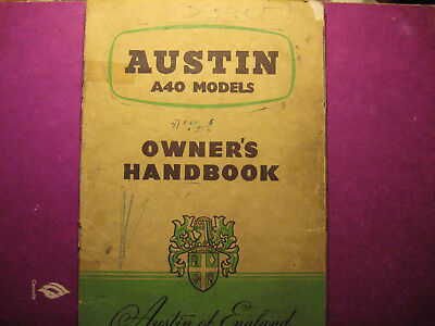Austin a40 owners manual