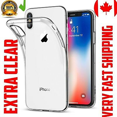 For iPhone 8 PLUS 5.5 Case Cover GEL Clear Tempered Glass Screen Protector