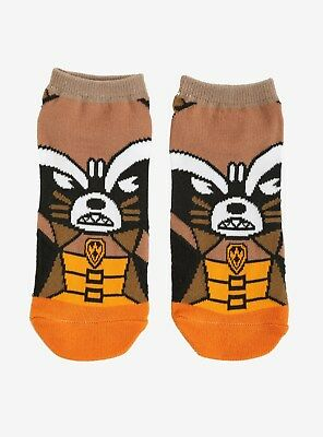 MARVEL GUARDIANS OF THE GALAXY ROCKET NO-SHOW SOCKS 1 pair