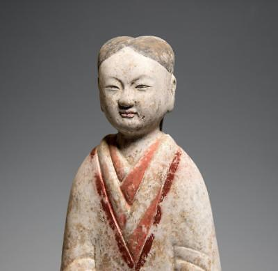 Chinese Han dynasty Tall Female Attendant: Circa 2nd-1st century BC.