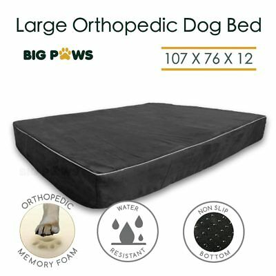 Memory Foam Dog Bed Orthopedic Large Dog Beds Mattress Cushion Water Resistant