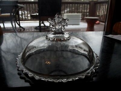 Replacement LID compote bowl Glass Hobbs & Brockunier Centennial Viking Bearded