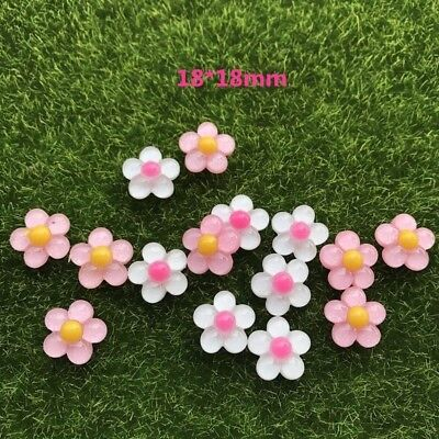 20pcs/lot flat back resin small size flowers mix colors DIY resin cabochons acce