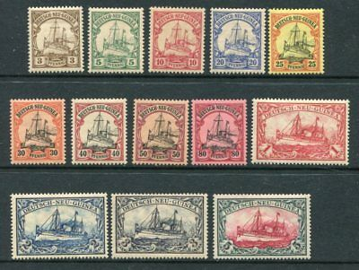 GERMAN NEW GUINEA 1901 MH Set to 5M 13 Stamps cat EURO 260