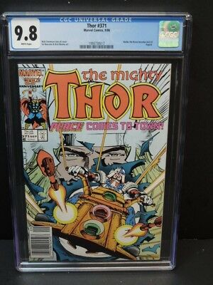 Marvel Comics Thor #371 1986 Cgc 9.8 Wp Balder The Brave Becomes Lord Of Asgard