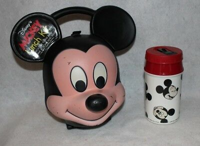 Vintage Aladdin Mickey Mouse Lunch box with Thermos