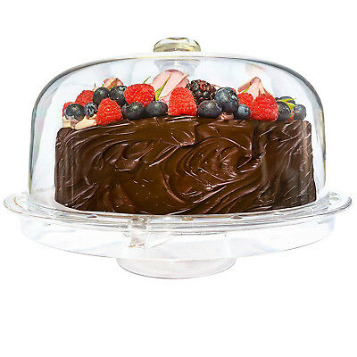 Acrylic Cake Dome Stand and Multifunctional Serving Platter Cake Plate with Dome