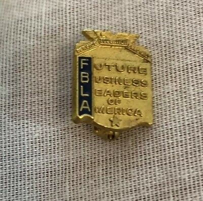 Vintage FBLA Future Business Leaders of America Pin Gold Blue 0.6 x 05""