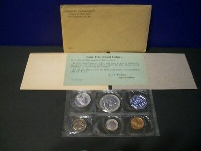 1960 Proof Set ~ Original Envelope With COA ~ US 90% Silver Mint Coin Set