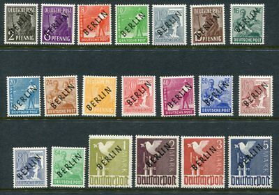 GERMANY BERLIN 1948 MH Set to 5M 20 Stamps