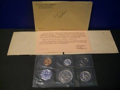 1963 Proof Set ~ Original Envelope With COA ~ US 90% Silver Mint Coin Set