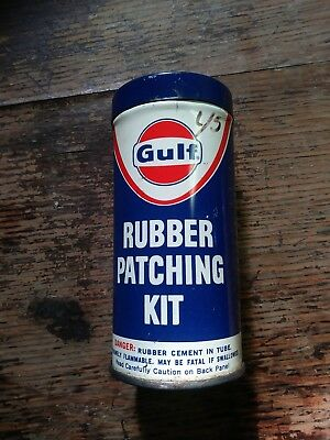 Vintage Gulf Rubber Patching Kit Tire Repair Kit