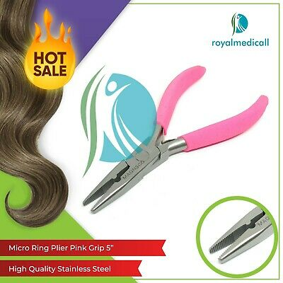 """Micro Ring Hair Extension Pliers Pink Grip 5"""",hair Extension Tools"""