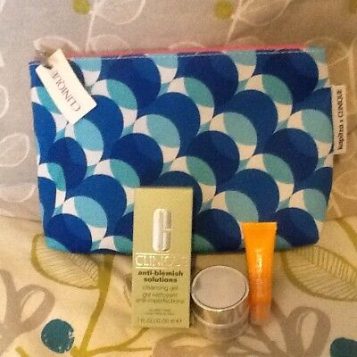 Clinique Cosmetic Bag And Products. BNWT