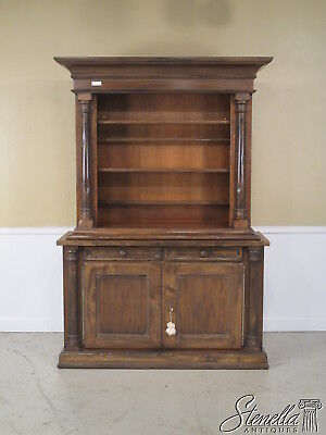 26338: BLOOMINGDALES Italian Made Open China Hutch Cupboard