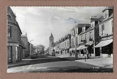 Banchory, High Street. Aberdeenshire,  Real Photograph Postcard,  Posted 1964