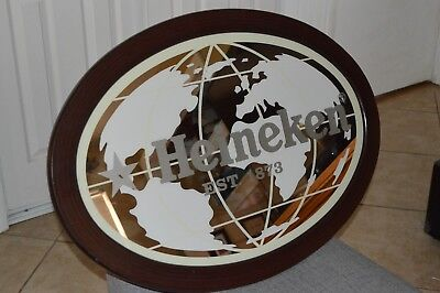 Large Heineken Beer Mirror