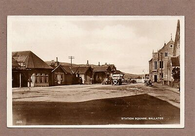 Ballater, Station Square, Aberdeenshire,  R/P Postcard, 1920's Unposted.
