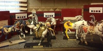 8 Figurines of THE TRAIL Of PAINTED PONIES