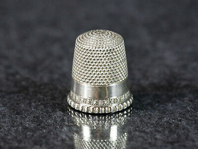Vintage Waite Thresher, Sterling Silver Thimble with Decorative Rim, #11