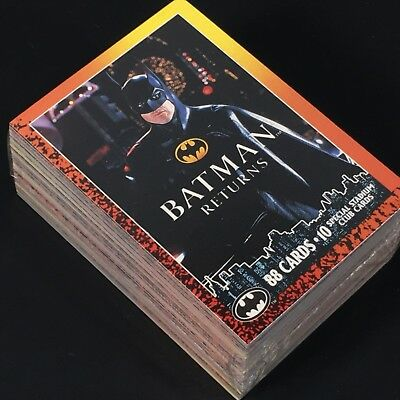 Complete 1-88 Card Base Lot 1992 Topps BATMAN RETURNS Trading Cards SEALED