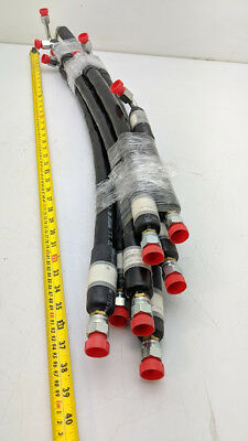 "Parker TempTube Insulated Oil Hydraulic Tubing 3/8"" OD Pipe C68 N-8 Hex Taper"