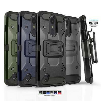 Phone Case for LG PHOENIX 4, [Tank Series] Shockproof Cover & Holster Belt Clip