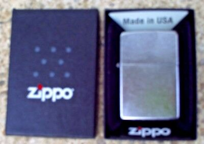 Zippo 207 Regular Street Chrome Genuine Lighter New In Box Usa Made