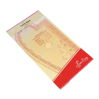 Sew Easy Curve Ruler for Knitting and Sewing French Curves Buttonhole Guides