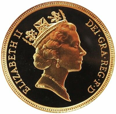1987 Gold Great Britain Sovereign Coin Gem Proof Condition