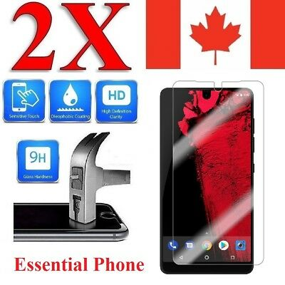 Premium Tempered Glass Screen Protector for Essential Phone PH-1 (2 Pack)