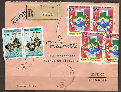 Gabon. 1972. Registered Air Mail Cover. Okondja Postmark. Transit And Arrival On
