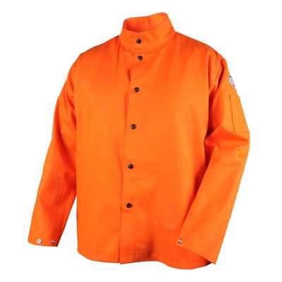 Black Stallion FO9-30C TruGuard 200 FR Welding Jacket, Safety Orange, 2X-LG