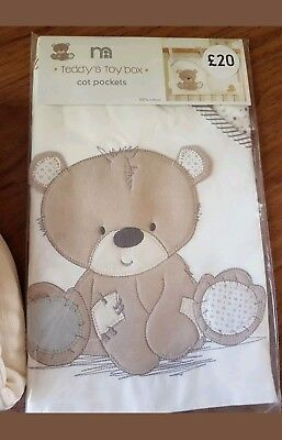 Bnwt Mothercare Teddys Toy Box Baby  Cot Pocket