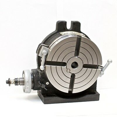 """VERTEX HV-6 (4-Slot) 6"""" Horizontal/Vertical Rotary Table with 4-Slot Face Plate"""