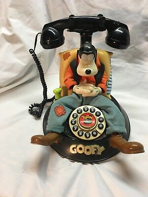 Vintage Disney Goofy Phone Animated Telephone Talking Excellent
