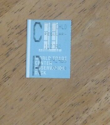 World Trade Center - Twin Towers - 9/11 - WTC - Child ticket stub dated 11/27/92