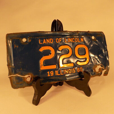 1960 Illinois Motorcycle License Plate