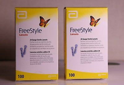 200 Freestyle  Abbott Lancets  FAST DELIVERY 2 Boxes 100 each - exp 2020