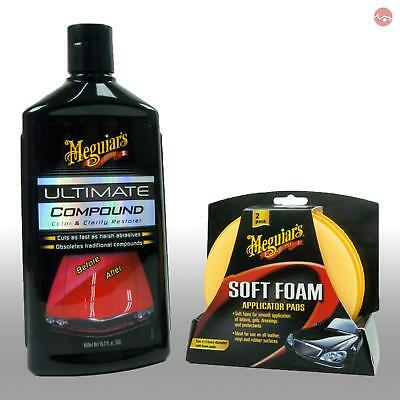 Meguiars Ultimate Polish Cleaner Car Polishing Compound/Soft Foam Applicator Pad